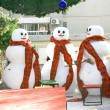 Three snowmen — Stock Photo