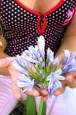 Protecting flower — Stock Photo