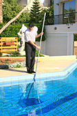 Swimming pool cleaner — Stock Photo