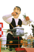 Carnival statue of Cypriot man in a carnival parade in Cyprus. — Stock Photo