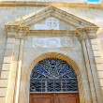 Old church door — Stock Photo