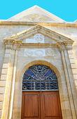Antigua puerta de la iglesia — Foto de Stock