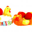 Stock Photo: Easter red eggs