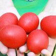 Easter red eggs — Stock Photo #1636995