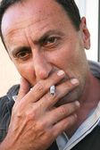 Smoking man — Photo