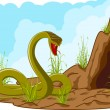 Royalty-Free Stock 矢量图片: Landscape with angry snake