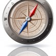 Steel Compass — Stock Vector #1006051