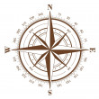 Stock Vector: Compass Rose