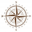 Royalty-Free Stock Vector Image: Compass Rose
