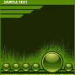Royalty-Free Stock ベクターイメージ: Web background with grass