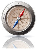 Steel Compass — Stock Vector