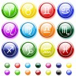 Royalty-Free Stock Vector Image: Glossy buttons with zodiac signs