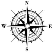 Compass Rose — Vettoriale Stock