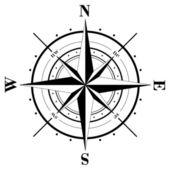 Kompas rose — Stockvector