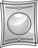 Cadre en verre - vecteur — Vecteur