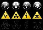 Danger Signs — Stock Vector