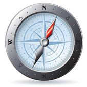 Steel Compass — Vettoriale Stock