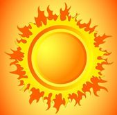 Hot sun — Stock Vector