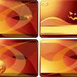 Royalty-Free Stock Vector Image: Set of Halloween cards