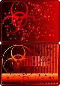 Cards with biohazard sign — Stock Vector