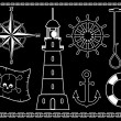 Royalty-Free Stock Vector Image: Nautical Icons
