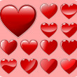 Royalty-Free Stock Векторное изображение: Set of beautiful hearts