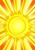 Sıcak yaz güneşi — Stok Vektör