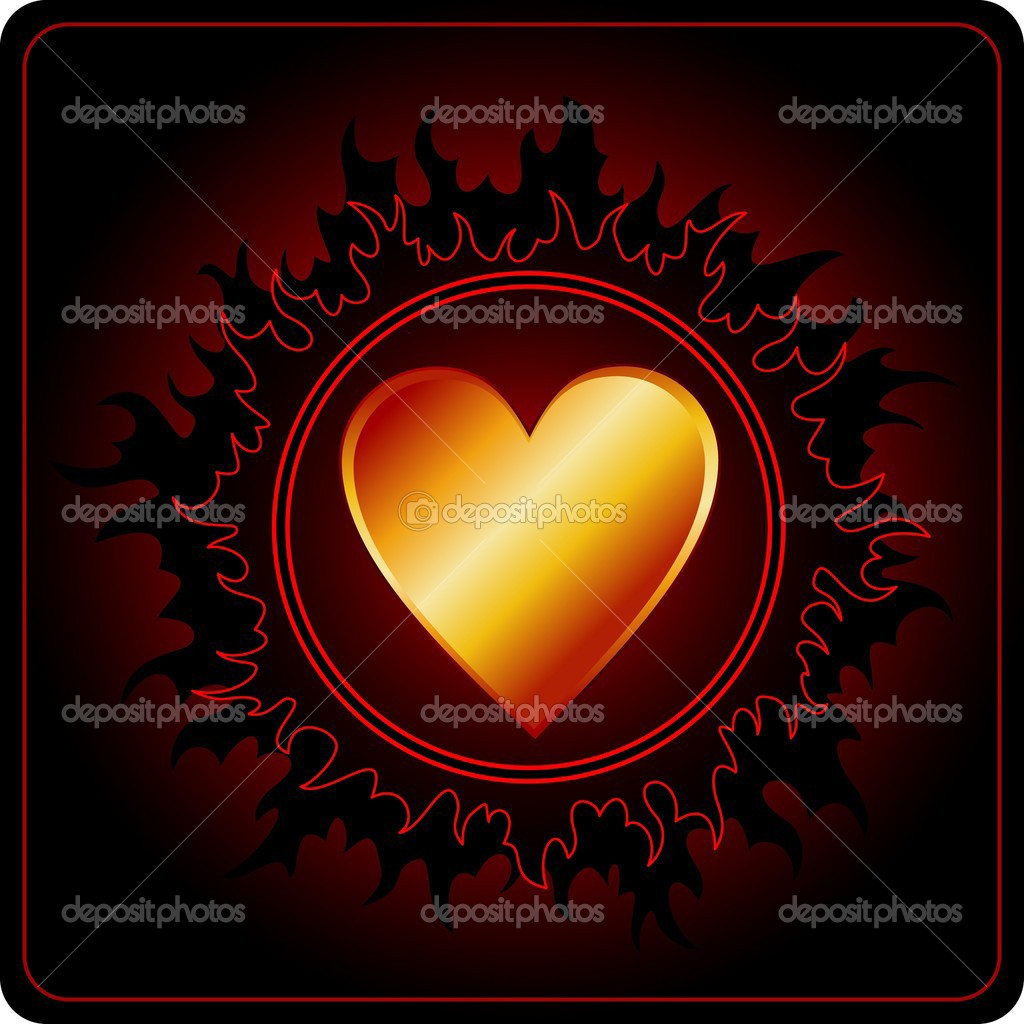 Dark Valentines Day Card with Black star  Stock Vector #1046811