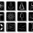 Set of Nautical Icons — Stock Vector #1075910