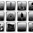 Set of Nautical Icons — Vettoriali Stock