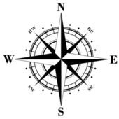 Compass Rose — Vector de stock