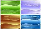 Set of beautiful backgrounds — Stock Vector
