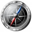 Steel Compass - Stock Vector