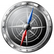 Stock Vector: Steel Compass
