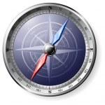 Steel Compass — Stock Vector