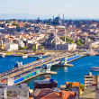 Bridge over Golden Horn in Istanbul — Stock Photo