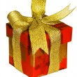 Royalty-Free Stock Photo: Present with golden ribbon