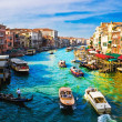 Grand Canal from Rialto bridge, Venice — Stok Fotoğraf #1007616