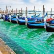 gondel boten in Venetië — Stockfoto
