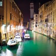 Venetian canal at night — Foto Stock