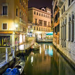Venetian canal at night — Stock Photo #1008236