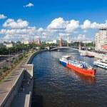 Постер, плакат: Famous Moscow Kremlin and Moskva river Russia