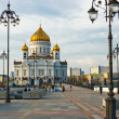 Stockfoto: Cathedral of Christ Saviour in Mosco