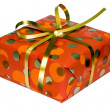 Royalty-Free Stock Photo: Gift box with golden ribbon