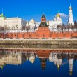 Stock Photo: Moscow Kremlin and reflection