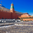 Red square and the mausoleum — Stock Photo