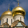Domes of the orthodox cathedral — Stock Photo