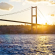 Royalty-Free Stock Photo: Bosphorus Bridge at sunset