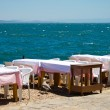 Cafe at side of sea — Stock Photo