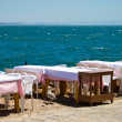 Cafe at side of sea - Stock Photo